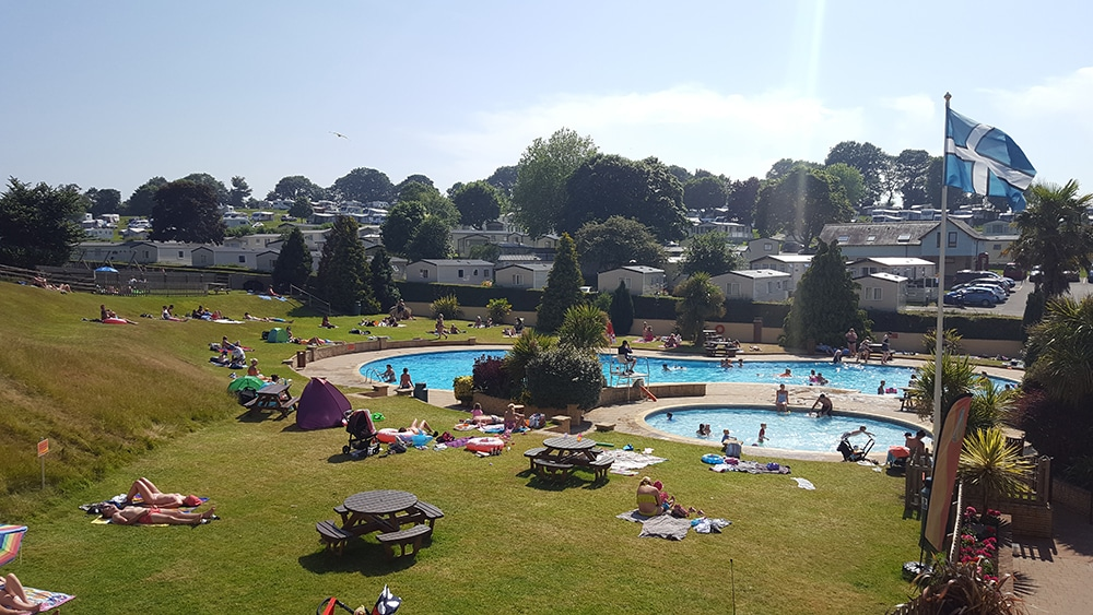 campsites holidays in Devon with swimming pools