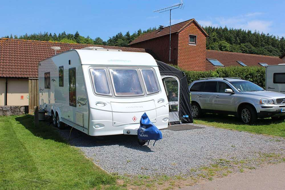 Campsite in Devon 8m Super Pitch