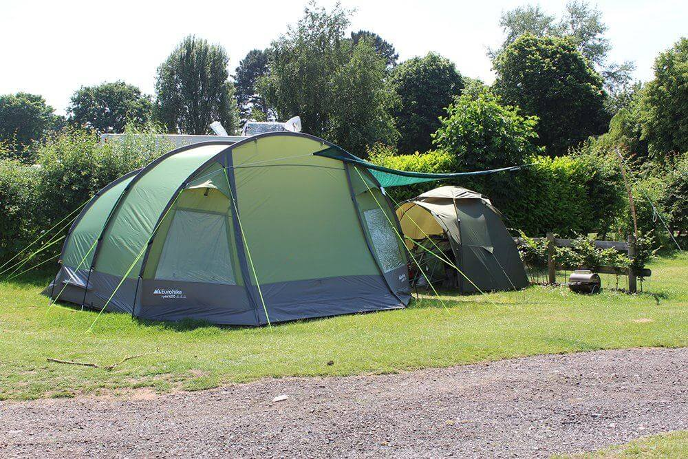 Campsite in Devon Grass Tent Pitch