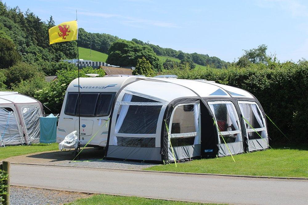Campsite in Devon Hardstanding Campervan