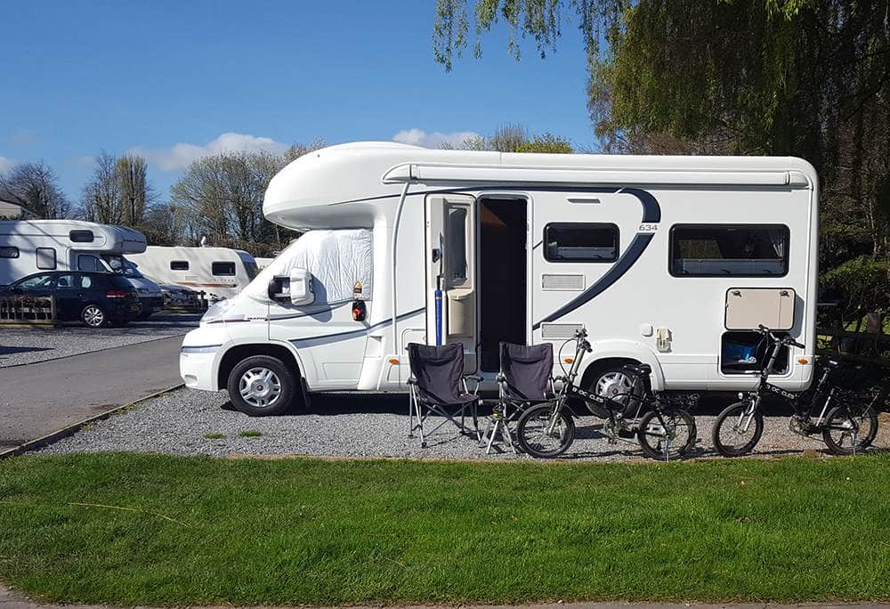 Motorhome with Electric Bikes