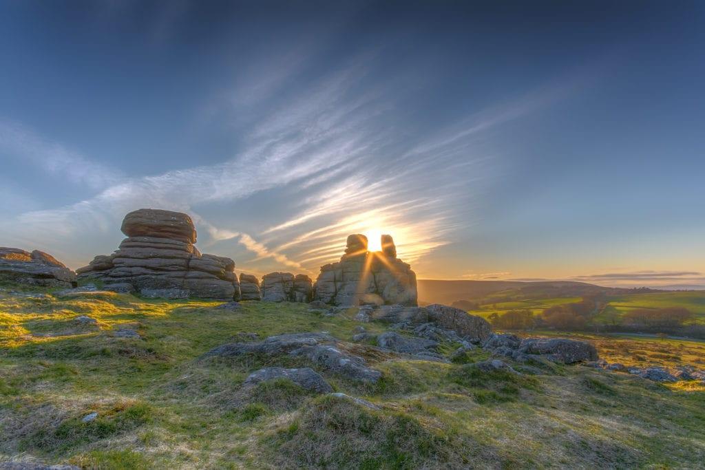 Short breaks in Devon. Hound Tor Dartmoor Devon Photo