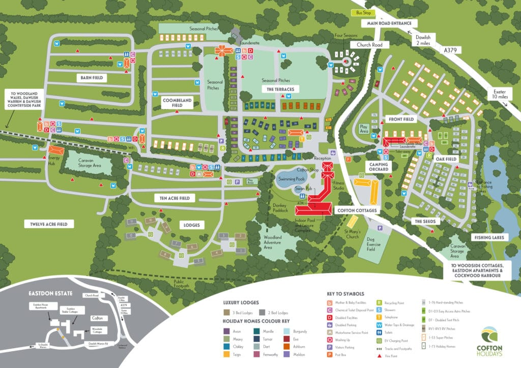 Cofton A3 site map