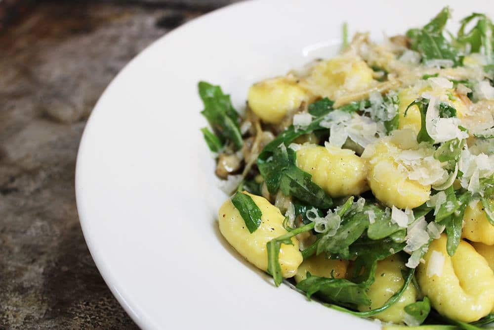 dining at cofton, mushroom gnocchi, amelia's pantry, local devon food