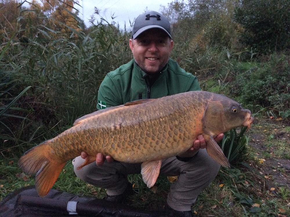 Carp fishing in autumn