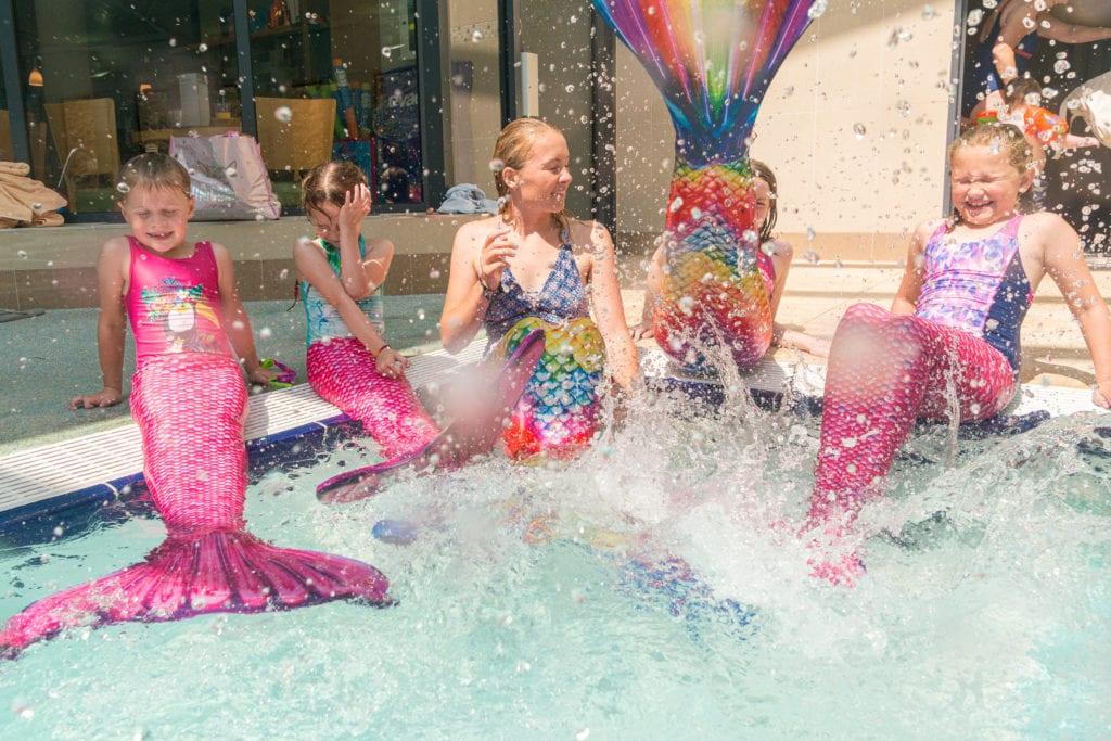 Mermaids making a splash