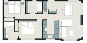 NEW LODGE 40X20 CUSTOM 2 BED FLOOR PLAN scaled