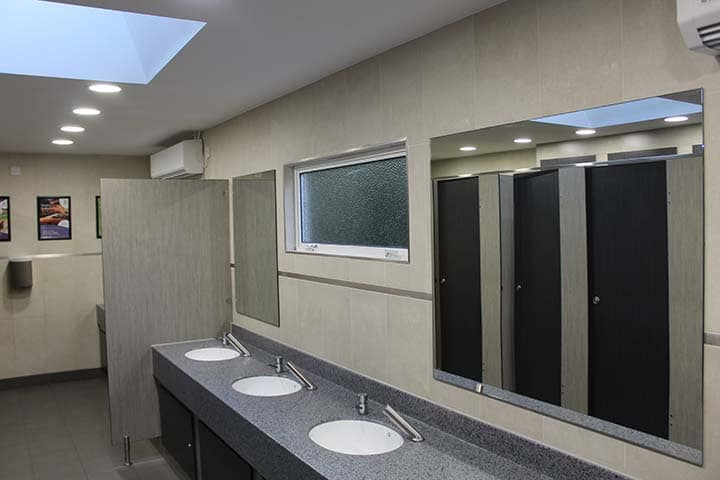 modern toilets for caravan sites open all year