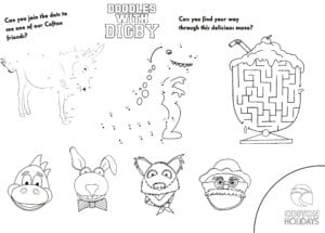 Doodles with Digby Activity Sheet 2